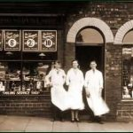 Walter Wilson's shop on Commercial Street, Brandon Colliery 1935