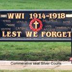 WW1 Commemorative Seats